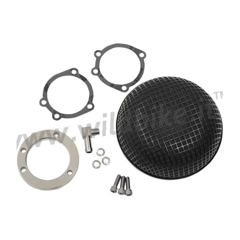 Harley Davidson Air Filter Kits : Air filter kit box bobber retro style black high