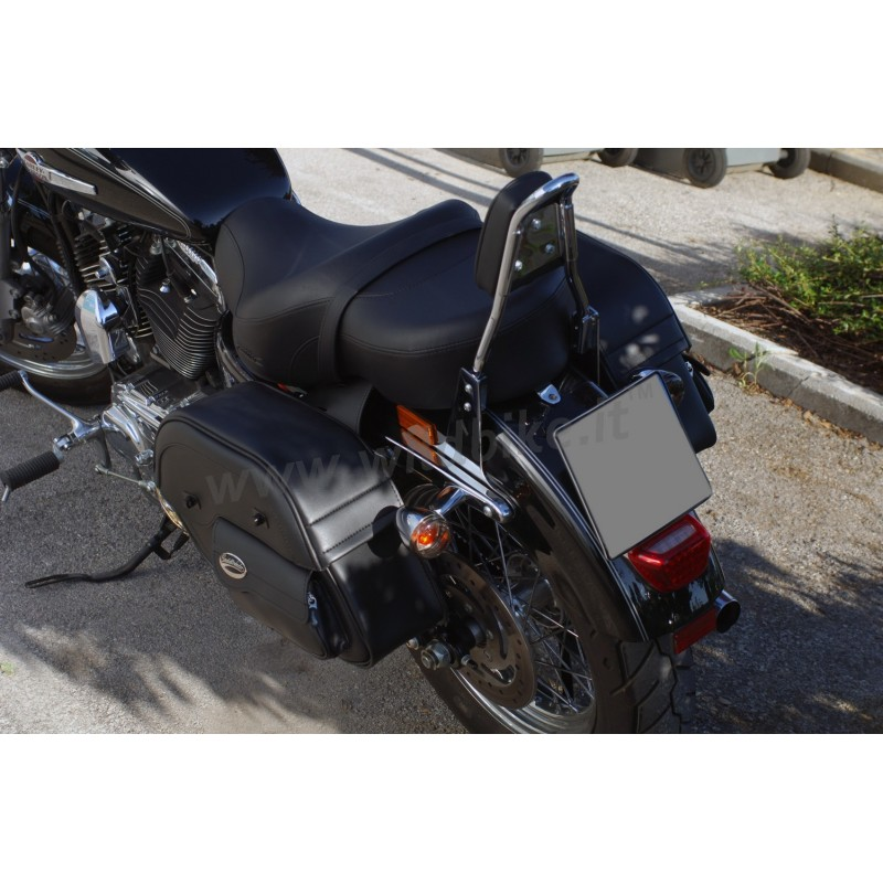 CRUISER SADDLEBAGS LARGE SLANT WITH POUCH FOR HARLEY DAVIDSON XL SPORTSTER