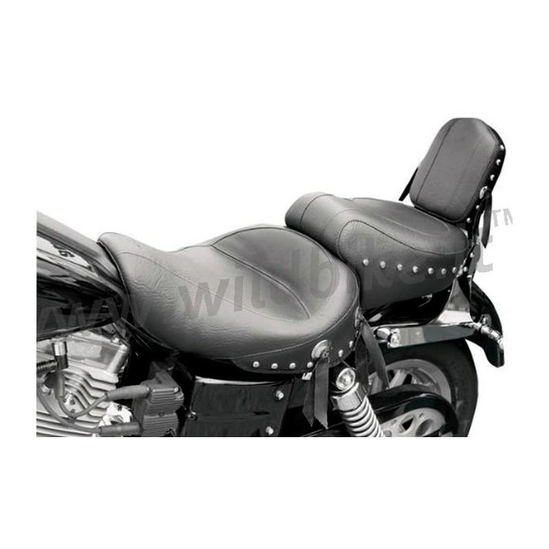 selle mustang wide touring vintage clout pour harley davidson fxd dyna 39 06 39 16. Black Bedroom Furniture Sets. Home Design Ideas