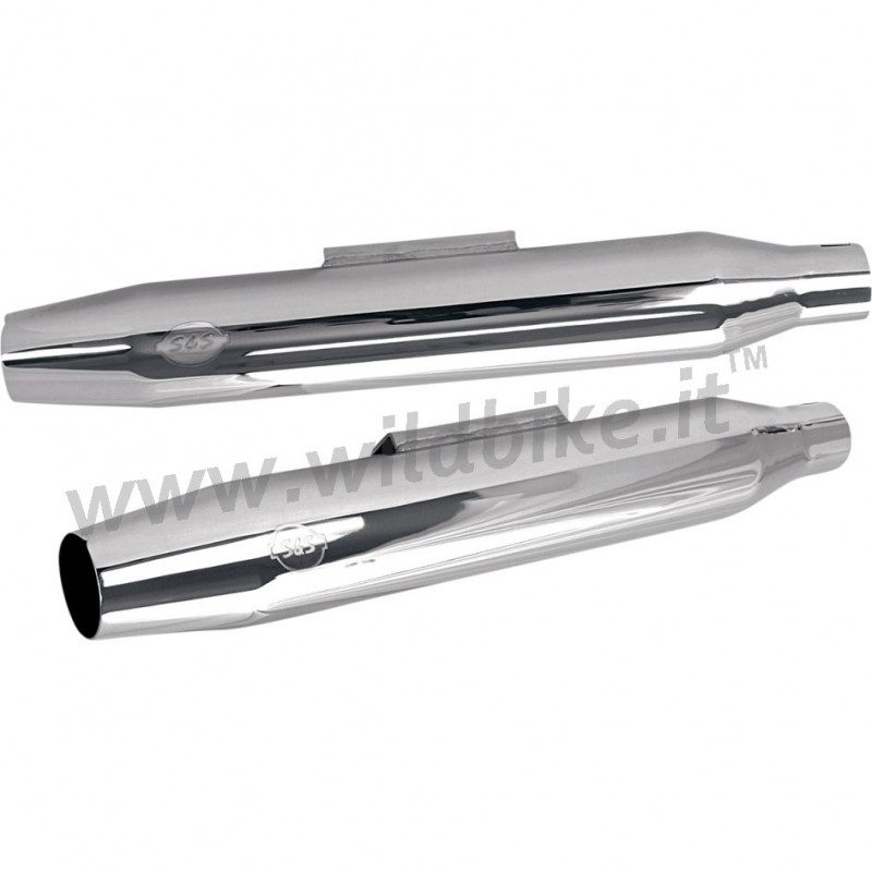 Exhausts Mufflers S U0026s 3 U0026quot  Slip On Tapered Chrome Harley