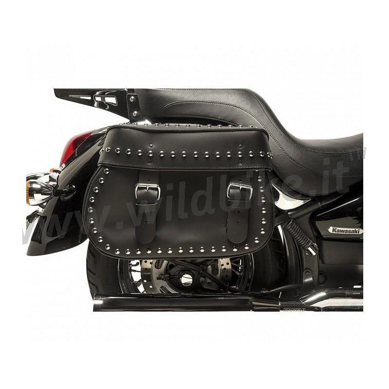 Borse in pelle harley davidson : Borse laterali in pelle midnight legend borchiate per moto