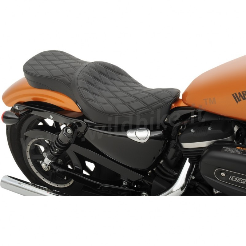 selle comfort double low profile diamond pour harley davidson xl sportster 39 10 39 16. Black Bedroom Furniture Sets. Home Design Ideas
