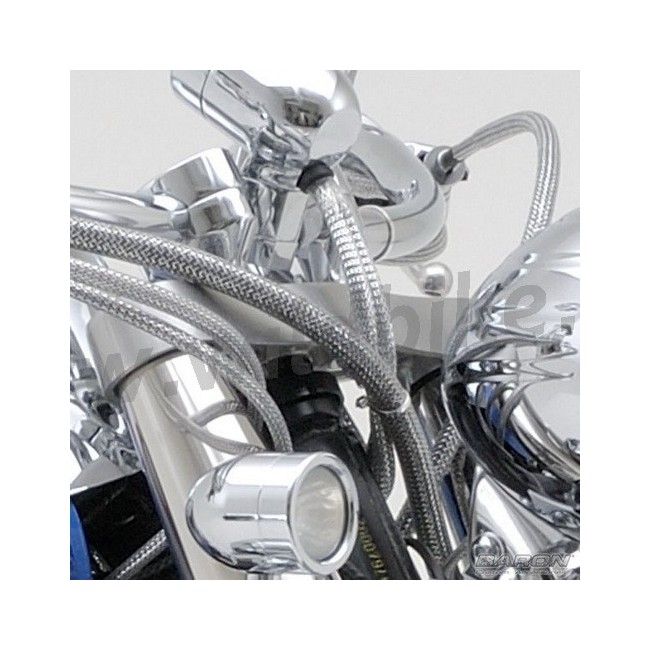 Custom Cable Kits For Motorcycles : Cable cover dress up kit chrome universal custom