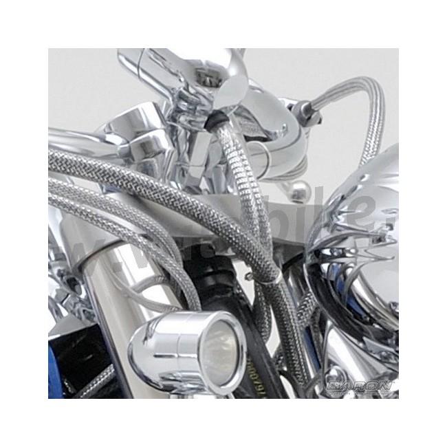 Harley Davidson Cable Kits : Cable cover dress up kit chrome universal custom
