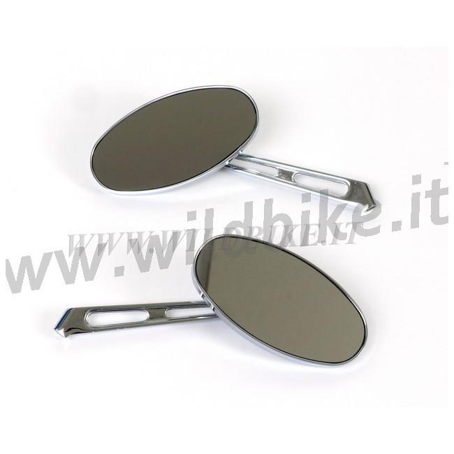Miroirs d 39 aluminium usin dans la masse ovale pour tige de for Miroir usine
