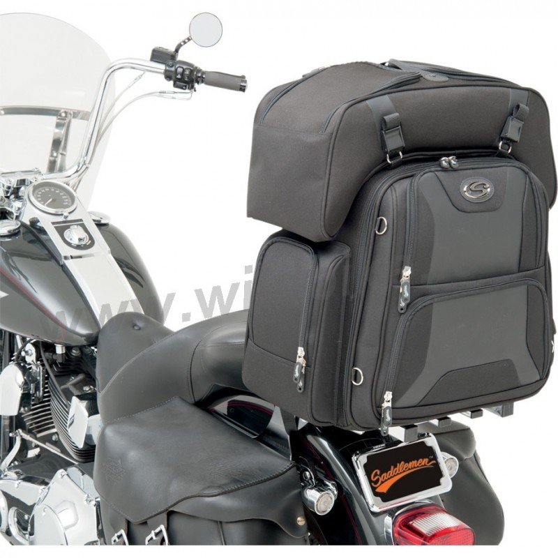 sacoche de voyage ftb3600 sport combo pour sissy bar porte bagage moto custom et harley. Black Bedroom Furniture Sets. Home Design Ideas