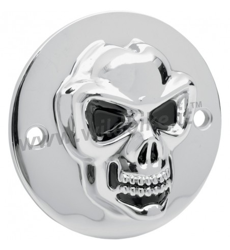 POINT COVER SKULL 3D CHROME HARLEY DAVIDSON XL SPORTSTER ' 04-' 14