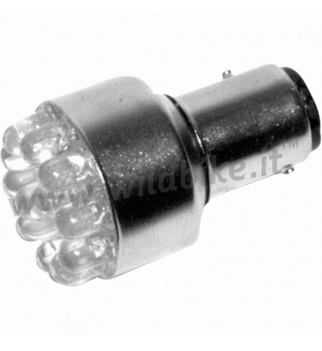 LED BULB STYLE 1157 12 V. DUAL FUNCTION CLEAR