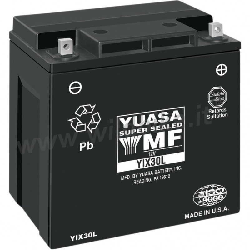 battery yuasa high performance maintenance free yix30l for harley davidson touring. Black Bedroom Furniture Sets. Home Design Ideas