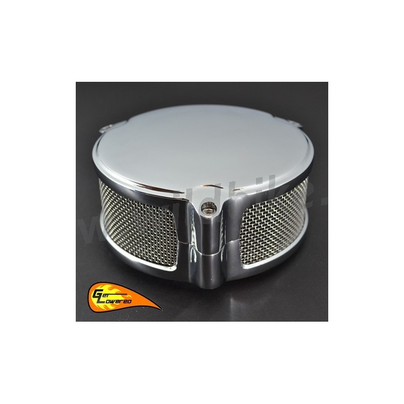 Harley Davidson Air Filter Kits : Air filter kit box new era round chrome harley davidson