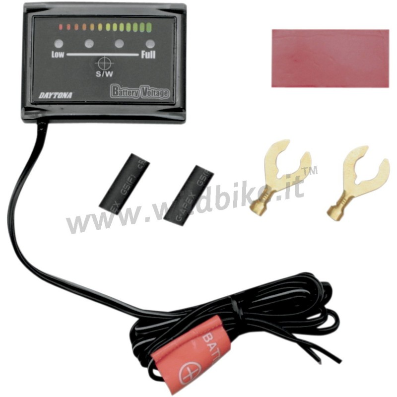 GAUGE BATTERY LED VOLTMETER FOR CARS AND MOTORCYCLE
