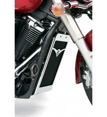 RADIATOR COVER COBRA CHROME FOR YAMAHA XVS 1300A MIDNIGHT STAR