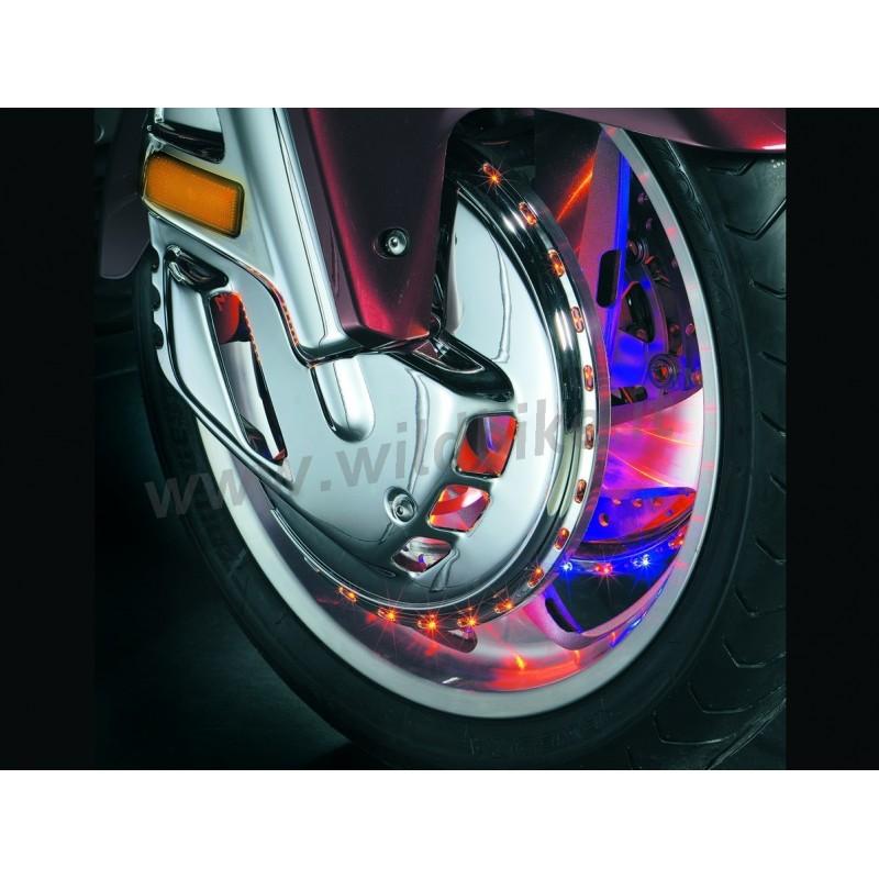 Bremsscheibenabdeckungen Chrom Mit Led Amber Blau Rot F 220 R