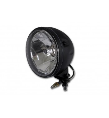 "HEADLIGHT EU APPROVED ROUND LED BLACK 5 3/4"" CUSTOM MOTORCYCLE AND HARLEY"