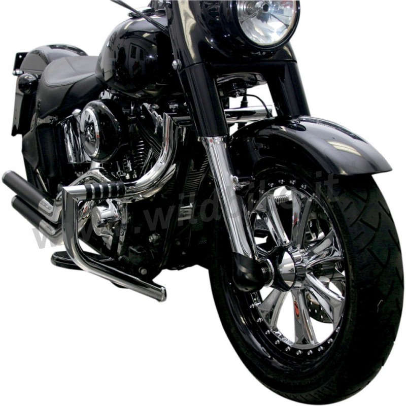 TUBO PARAMOTORE LINDBY MAGNUMBAR® CROMATO 1710 HARLEY DAVIDSON FLS FLST SOFTAIL '00-'15