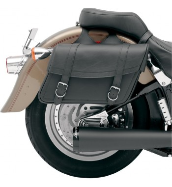 BORSE LATERALI IN PELLE HIGHWAYMAN CLASSIC MEDIUM PER MOTO CUSTOM E HARLEY DAVIDSON