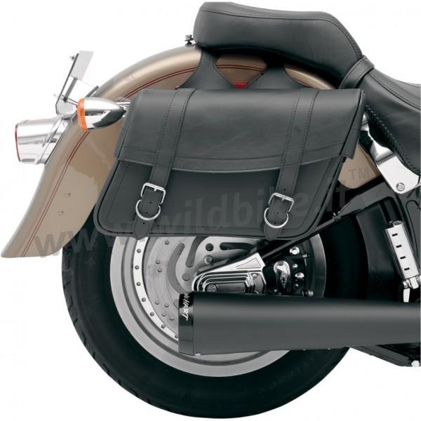 SADDLEBAGS LEATHER HIGHWAYMAN CLASSIC MEDIUM CUSTOM MOTORCYCLE AND HARLEY  DAVIDSON