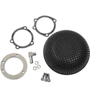FILTRO ARIA BOBBER RETRO STYLE NERO KIT HIGH PERFORMANCE HARLEY DAVIDSON XL SPORTSTER...