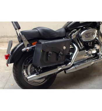 SADDLEBAGS LEATHER FLEETSIDE CLASSIC FOR HARLEY DAVIDSON XL SPORTSTER