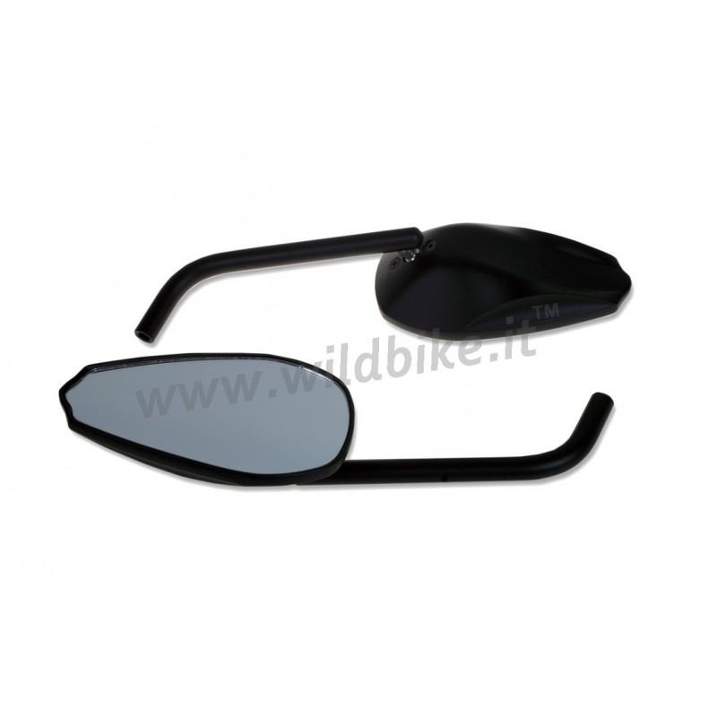 Specchietti retrovisori omologati legend neri moto custom - Specchi moto omologati ...