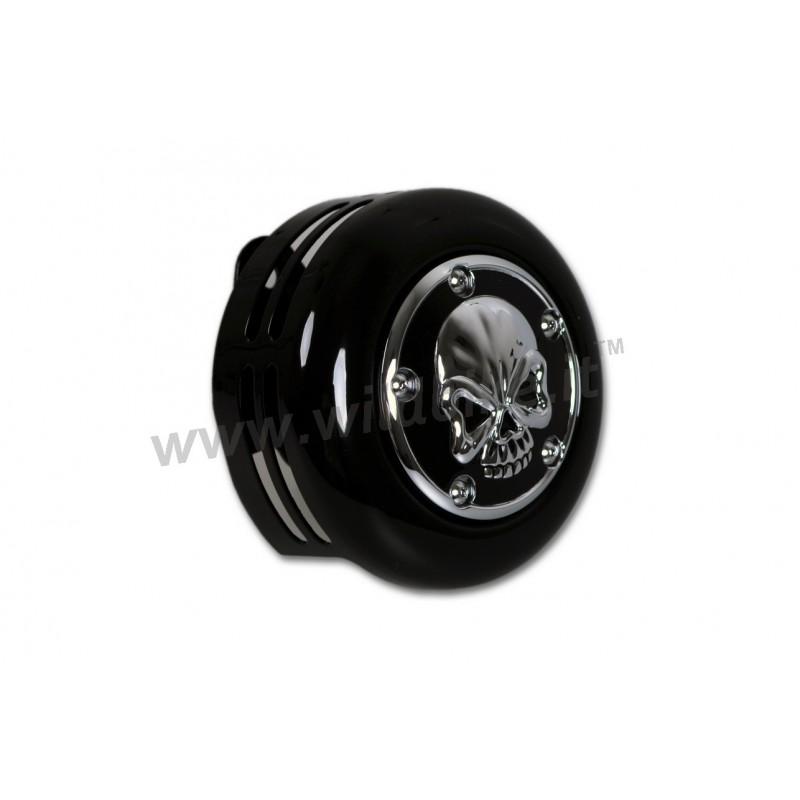 Horn Cover Arlen Ness Black Skull 3d Harley Davidson Xl