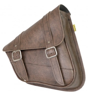 LEATHER BAG W3 BROWN FOR SWINGARM HARLEY DAVIDSON XL SPORTSTER '92-'15