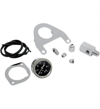 OIL PRESSURE GAUGE KIT CHROME HARLEY DAVIDSON TWIN CAM '99-'15