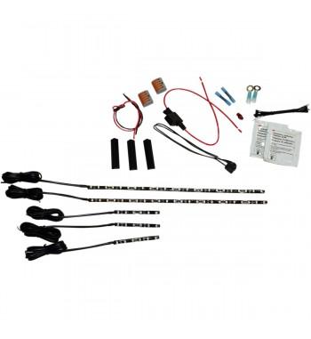 KIT LED ENGINE MAGICFLEX2® CRUISER COLOR RED FOR CUSTOM MOTORCYCLE AND HARLEY DAVIDSON