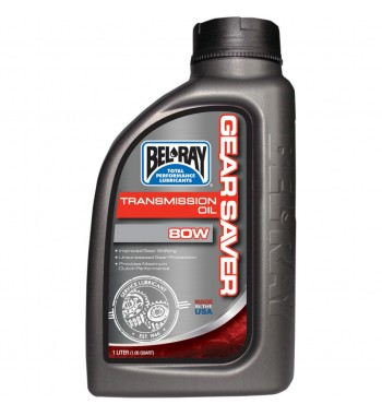 OIL LUBE TRANSMISSION BEL RAY GEARSAVER 80W 1 LT. FOR HARLEY DAVIDSON AND MOTORCYCLE