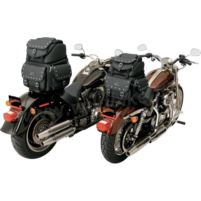 sac de voyage en cuir br1800ex deluxe clout combination pour moto custom et harley davidson. Black Bedroom Furniture Sets. Home Design Ideas