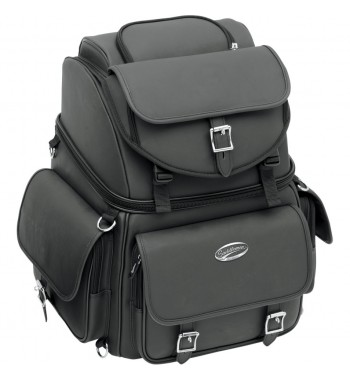 BAG BIG TRAVEL CASE LEATHER COMBINATION BR3400EX/S DELUXE FOR CUSTOM MOTORCYCLE AND HARLEY DAVIDSON