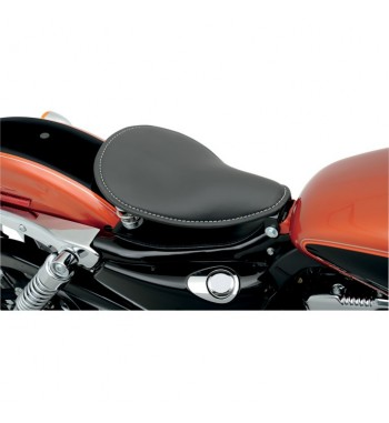SPRINGS BLACK SOLO SEAT LOW PROFILE AND MOUNTING KIT HARLEY DAVIDSON XL SPORTSTER '04-'16