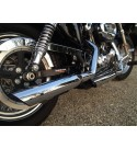 "SCARICHI MARMITTE 3"" SLASH DOWN CROMATI REPLICA SCREAMIN EAGLE HARLEY DAVIDSON XL SPORTSTER '04-'13"