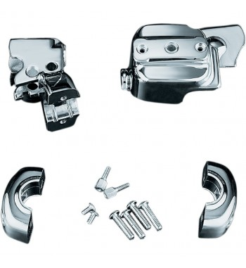 COVER KITS CHROME HANDLEBAR CONTROL FOR HARLEY DAVIDSON DYNA AND SOFTAIL '96-'16