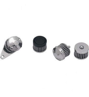 CRANKCASE VENT FILTER KIT ASSEMBLY FOR CUSTOM MOTORCYCLE AND HARLEY DAVIDSON