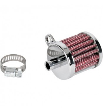 FILTER VENT MINI CHROME CRANKCASE FOR CUSTOM MOTORCYCLE AND HARLEY DAVIDSON