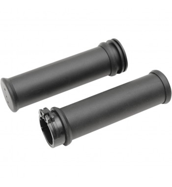 "KIT BLACK GRIPS WITH THROTTLE CONTROL FROM 1"" 25 MM. FOR MOTORCYCLE HANDLEBAR"
