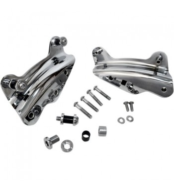 KIT DOCKING HARDWARE 4 POINT CHROME FOR HARLEY DAVIDSON TOURING '09-'13