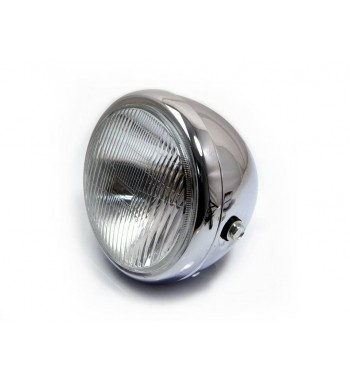 """HEADLIGHT ASSEMBLY CLASSIC CHROME 6.75"""" FOR MOTORCYCLE AND HARLEY DAVIDSON"""