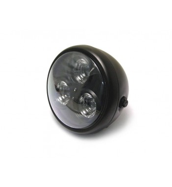 """HEADLIGHT ASSEMBLY CYCLOPS LED BLACK 6.75"""" FOR MOTORCYCLE AND HARLEY DAVIDSON"""