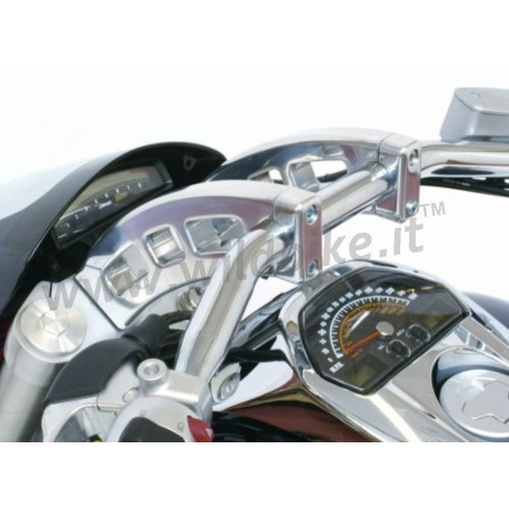 handlebar risers chrome for suzuki intruder m1800r. Black Bedroom Furniture Sets. Home Design Ideas