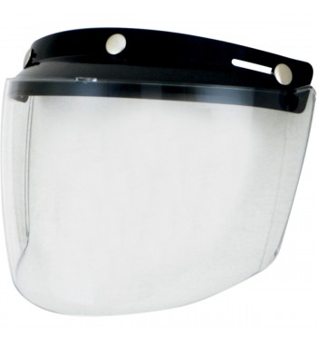 VISOR SHIELD VINTAGE MOUNT 3 POINTS CLEAR FOR HELMETS DEMI-JET