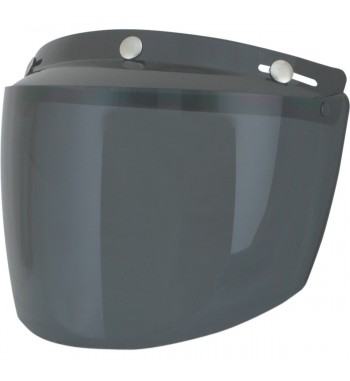 VISOR SHIELD VINTAGE MOUNT 3 POINTS SMOKE FOR HELMETS DEMI-JET