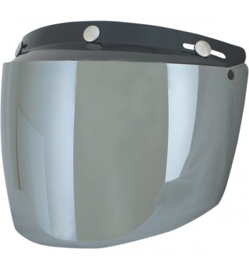 VISOR SHIELD VINTAGE MOUNT 3 POINTS SILVER FOR HELMETS DEMI-JET