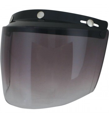 VISOR SHIELD VINTAGE MOUNT 3 POINTS SMOKE GRADIENT FOR HELMETS DEMI-JET
