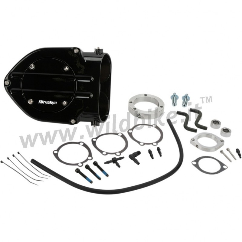 Harley Hypercharger Air Cleaner: AIR FILTER HYPERCHARGER BOX KIT BLOOD GROOVE BLACK HARLEY
