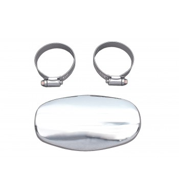 HEAT SHIELD LARGE TYPE SPOON LENGHT 14 CM. CHROME FOR EXHAUST MUFFLERS MOTORCYCLE