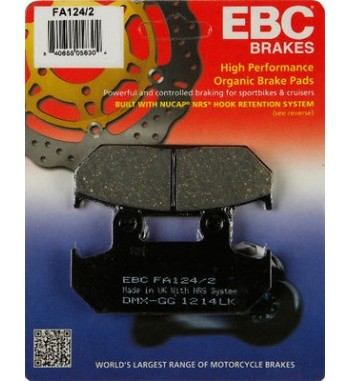 FRONT BRAKE PAD DRAG ORGANIC KEVLAR® FOR HONDA VT 600C SHADOW '88-'93