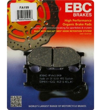 FRONT BRAKE PAD DRAG ORGANIC KEVLAR® FOR YAMAHA XVS 1100 DRAGSTAR '99-'09