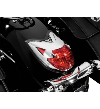 COUVERTURE FEAUX ARRIERE CHROME POUR YAMAHA XVS 950 MIDNIGHT STAR